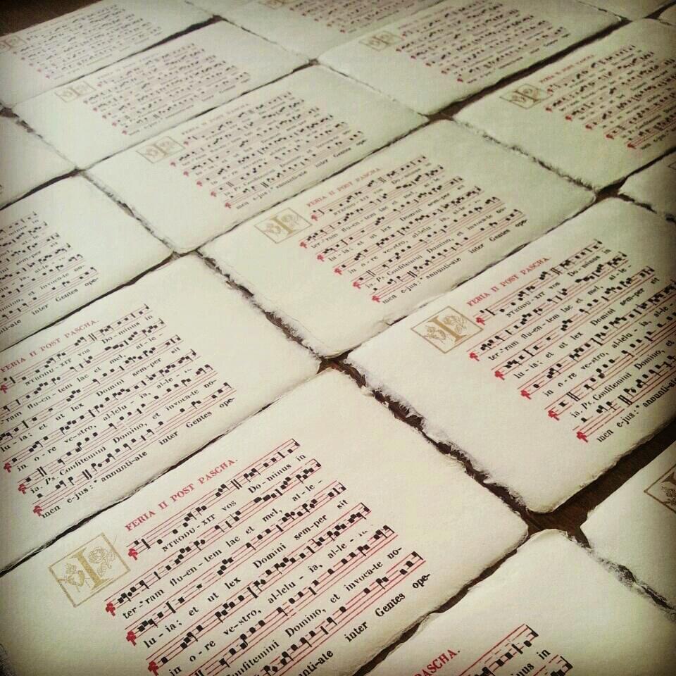 新作【カード】聖歌&愉快な人文字の封筒