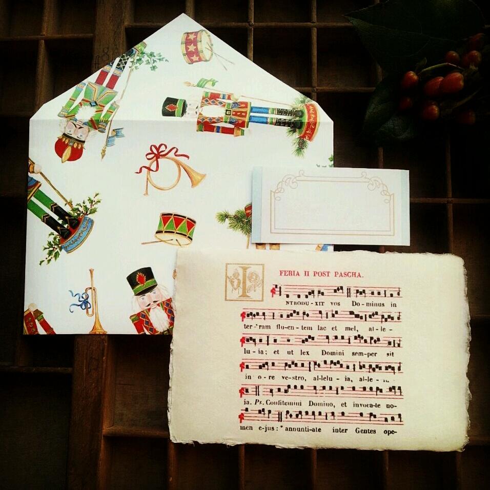 新作【カード】聖歌&くるみ割り人形の封筒
